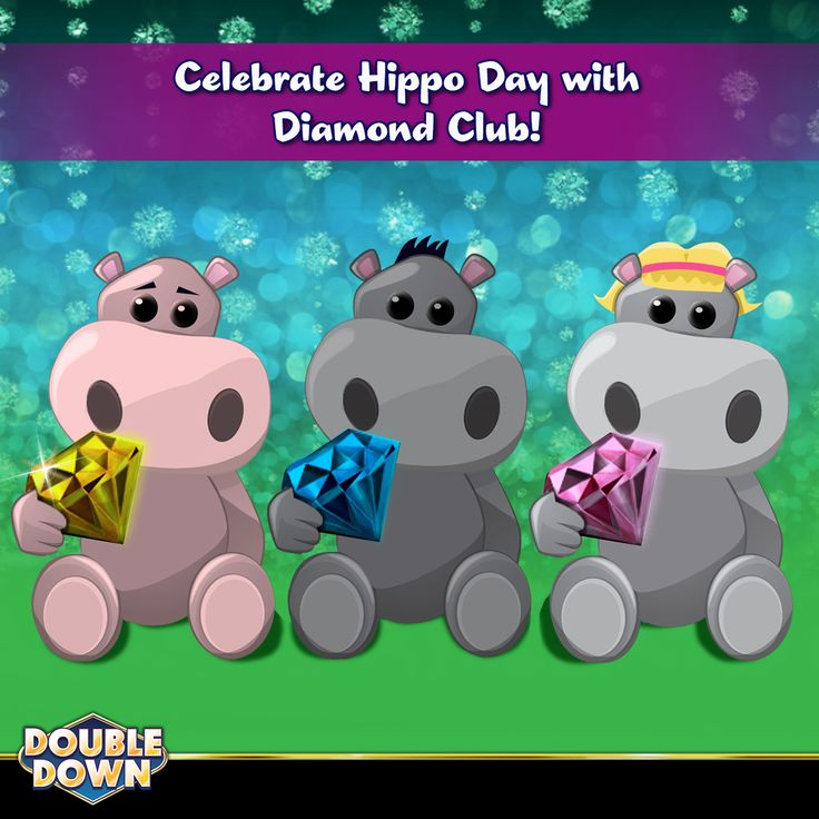 (EXPIRED) Today is Hippo Day! To celebrate, our friends at Diamond Club are bringing 250,000 FREE chips for everyone! To claim them, just tap the Pinned Link (or use code THXXJT)
