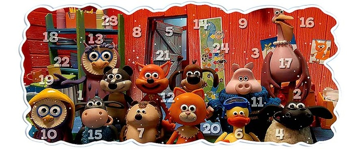 "The Flash christmas calendar 2010 on the website ""the Children's Favorites"". Here you can meet Bob the builder, Postman Pat, Pingu etc."