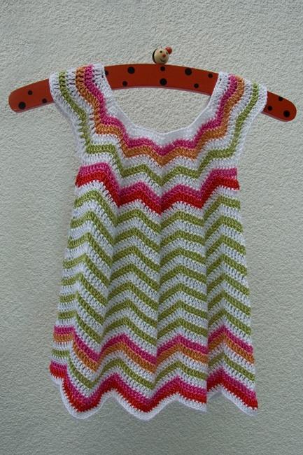 Crochet little dress