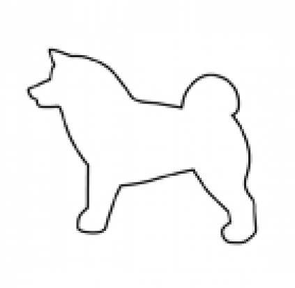 Ausstechförmchen HundeHundekeks-Ausstechförmchen: Akita