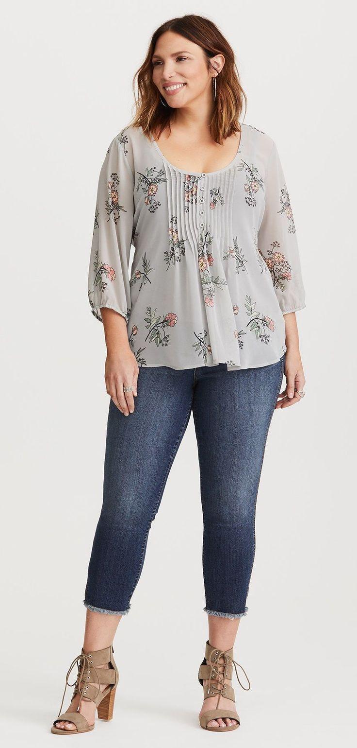 ac8d84b4c4b Plus Size Chiffon Pintuck Blouse - Plus Size Fashion for Women  plussize