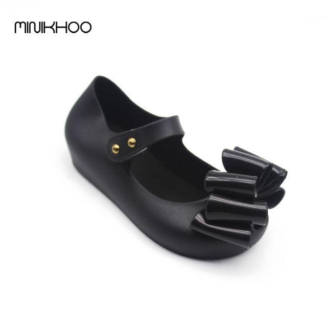Hot Deals $11.24, Buy Mini Melissa Large Bow Korea Jelly Shoes Bow Flat Sandals Plastic Sandals Girls Melissa Sandals Sapato Infantil Menina Shoes