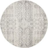 Found it at Temple & Webster - Urmia Silver Power Loomed Modern Round Rug