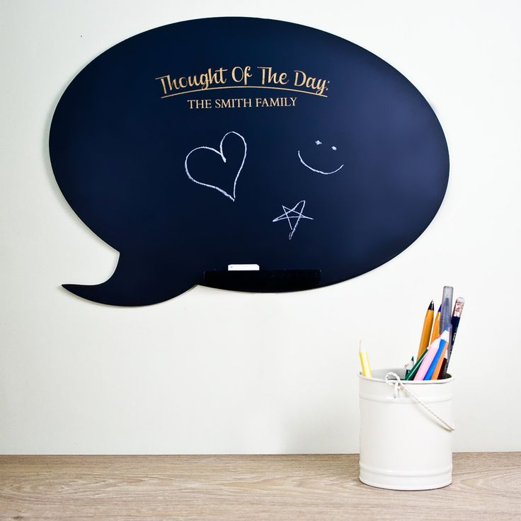 Thought Of The Day Speech Bubble Chalkboard - Kids Gift - Home Gift by KiddiClub on Etsy