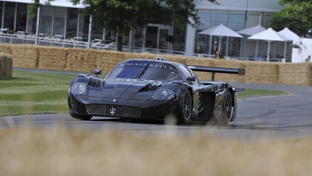 One of the top five fastest cars from Goodwood: Michael Bartels, Maserati MC12 'Goodwood Cent 100': 45.82s - BBC Top Gear