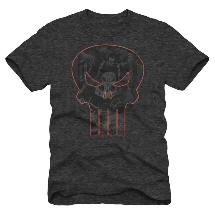 Men's Punisher Logo Graphic T-Shirt - Charcoal Heather M, Gray