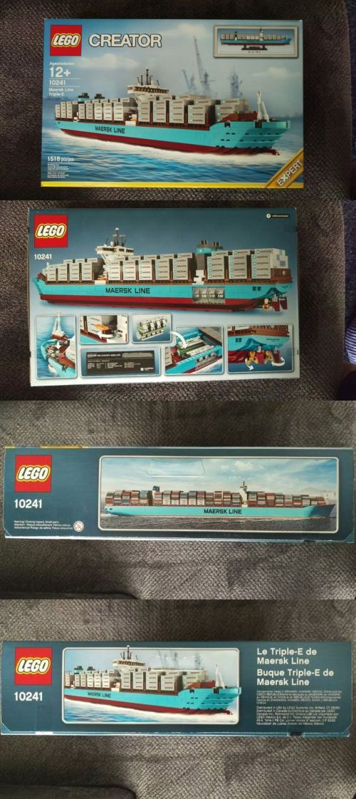 LEGO Complete Sets and Packs 19006: Must Buy Brand New Factory Sealed Creator 10241 Maersk Line Triple-E Lego Set -> BUY IT NOW ONLY: $255.8 on eBay!