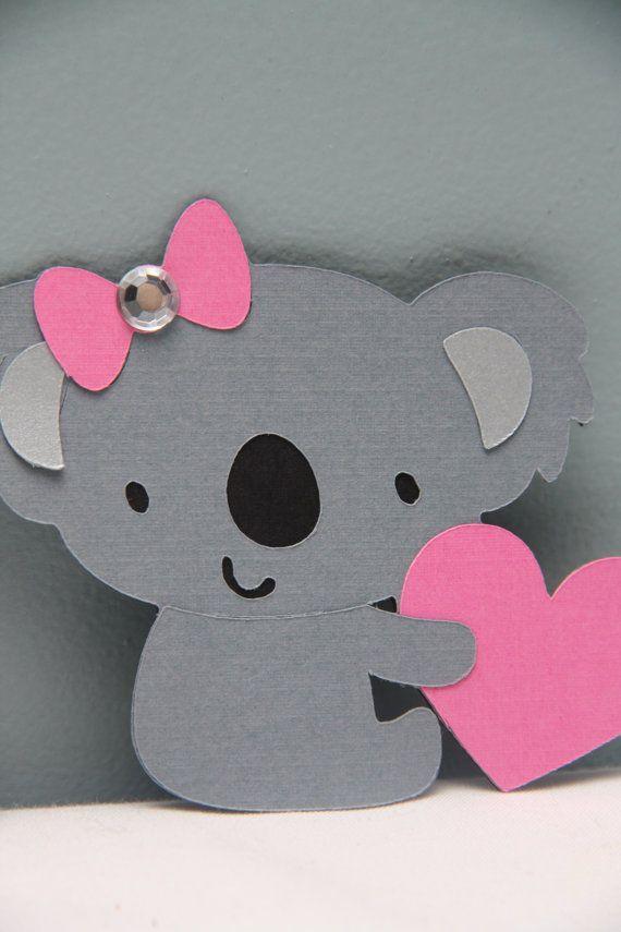 Set of 8 Embellished Valentine Koala Bears by CraftingCrew on Etsy, $5.00