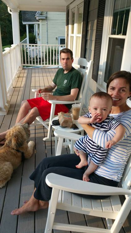 Michael Kennedy's daughter Kyle Kennedy Kerr with her husband Liam Kerr and their son, Conor.