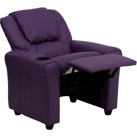 Flash Furniture Kids' Vinyl Recliner with Cupholder and Headrest, Multiple Colors Image 5 of 5