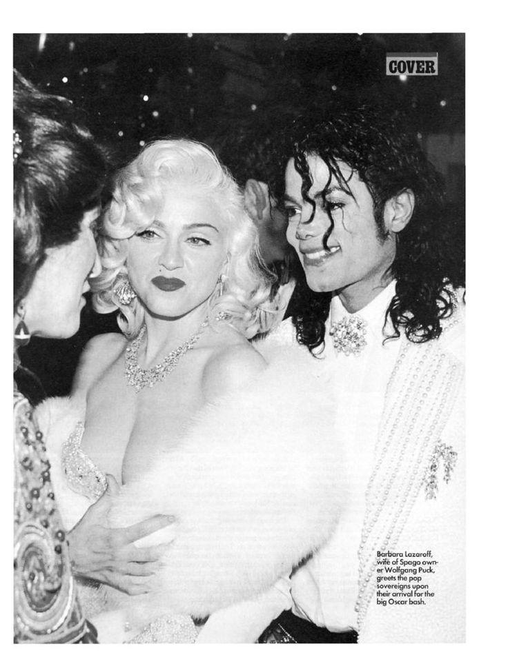 Madonna and Michael Jackson at Academy Awards 1991