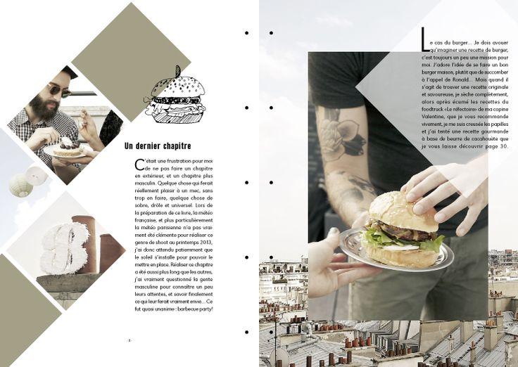 Mise en page géométrique / graphisme culinaire.                                                                                                                                                      Plus