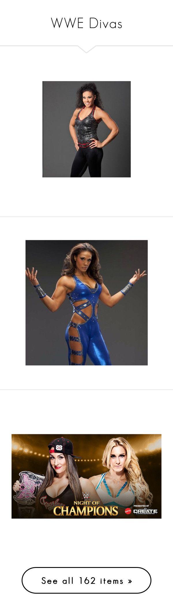 """WWE Divas"" by wrestlingloversethrollins ❤ liked on Polyvore featuring wwe, divas, people, stephanie mcmahon, wwe diva, superstars, triple h, wwe figures, nikki bella and the bella twins"