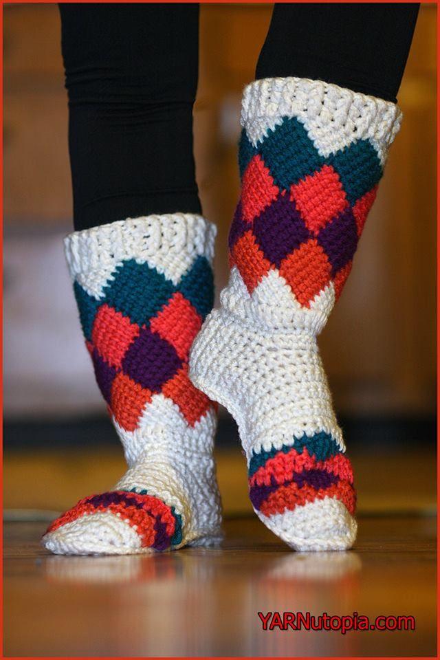 Crochet Tutorial: Tutti Frutti Crochet Slippers   YARNutopia by Nadia Fuad