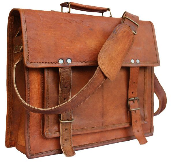 A must have classic retro briefcase messenger bag. This bag has enough room for laptops, files, books and your other essentials. Its spacious interiors will store all your business essentials safely and orderly, its leather body will exude its own appeal and make it highly durable. Handheld or shoulder sling with adjustable straps. DIMENSIONS : (WxHxD) 14x11x4 Inches. Fits in 14 INCH Laptop/Macbook PRO easily.