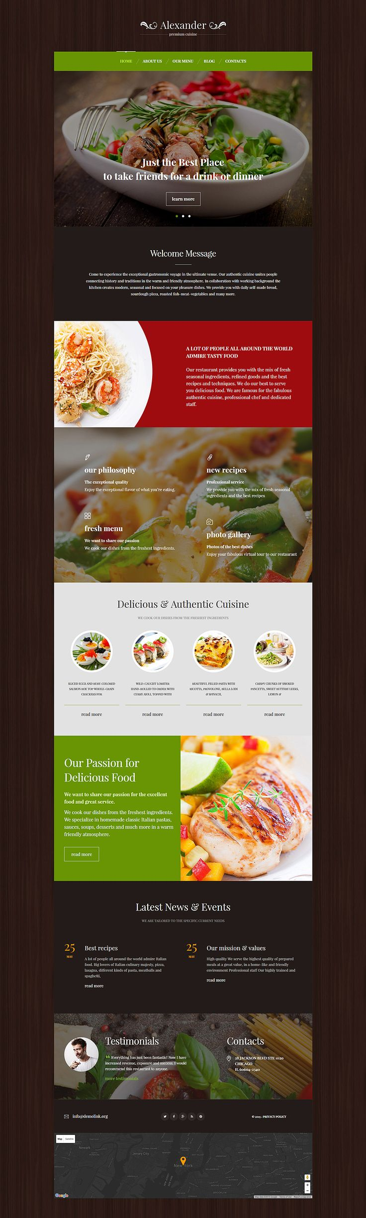 New Monstroid Child Theme: Italian Restaurant WordPress Theme