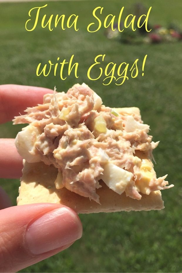 Tuna Salad with Eggs! Kick your traditional tuna salad up a notch with the addition of hard boiled eggs. Our family favorite recipe here!