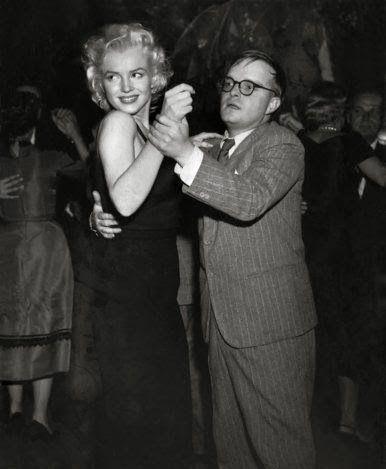Truman Capote takes Marilyn Monroe pulse.