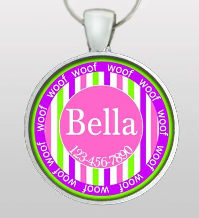 154 best printables for dog tags images on pinterest dog tags custom dog tag whimsical woof border dog id tag dog name tag sciox Choice Image
