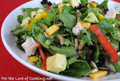 Southwestern Chicken Salad with Cilantro Lime Vinaigrette