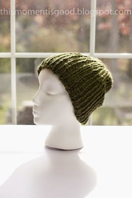 This Moment is Good!: LOOM KNIT MEN'S RIBBED BEANIE...