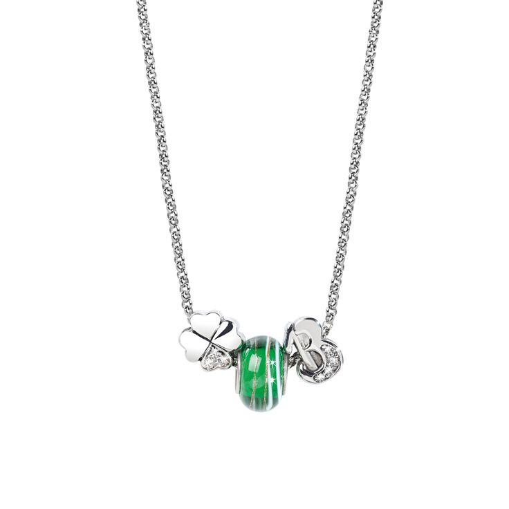 Stylový dámský náhrdelník z chirurgické oceli Morellato Drops SCZ029