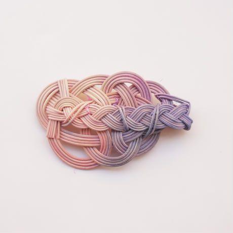 【YOSHIKO】水引+三つ編みブローチ