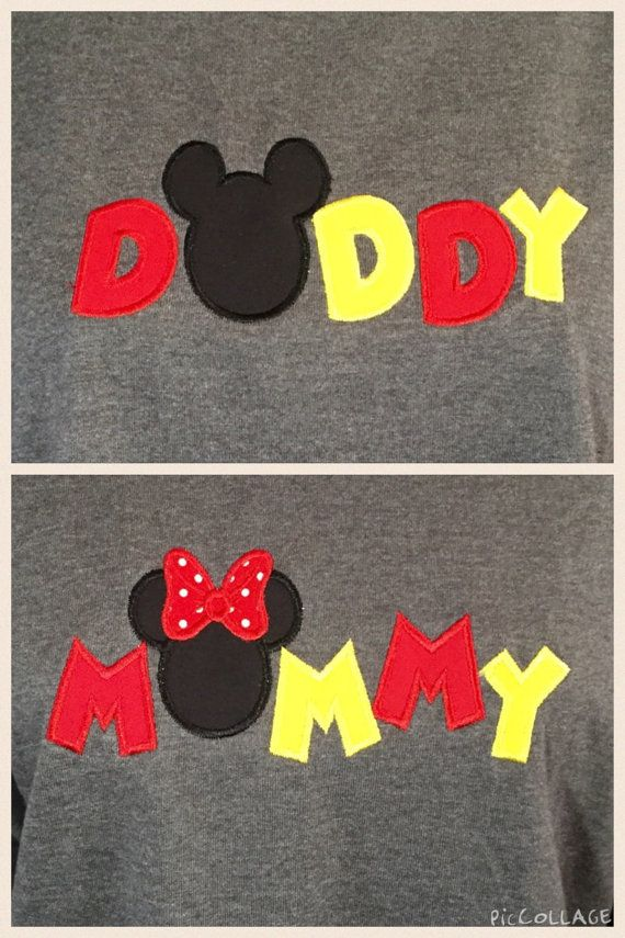 Mommy/Daddy Mickey Mouse or Minnie Mouse by IrresistiblEmbroider