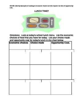 Printables Opportunity Cost Worksheet opportunity cost worksheet 2013 worksheet