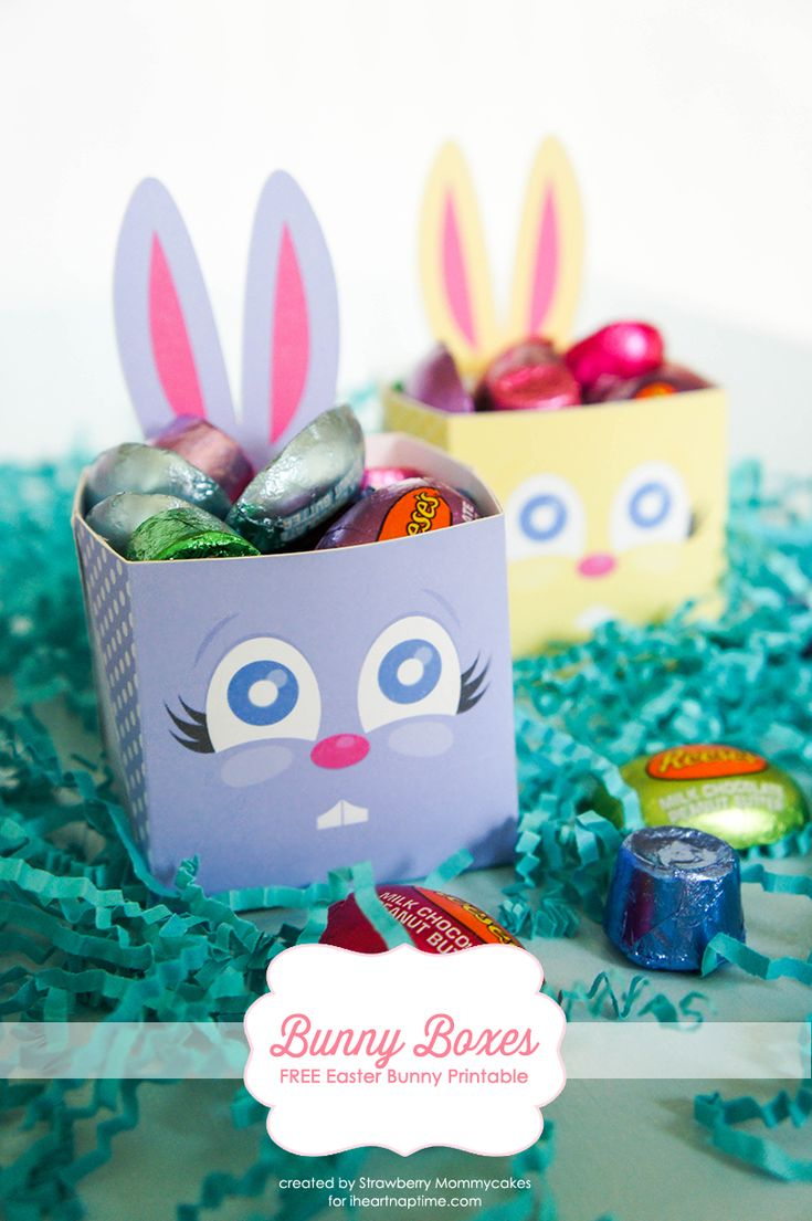 FREE printable Easter Bunny baskets | printable box