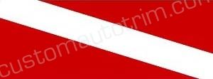 Diver Down Flag Rear Window Graphic