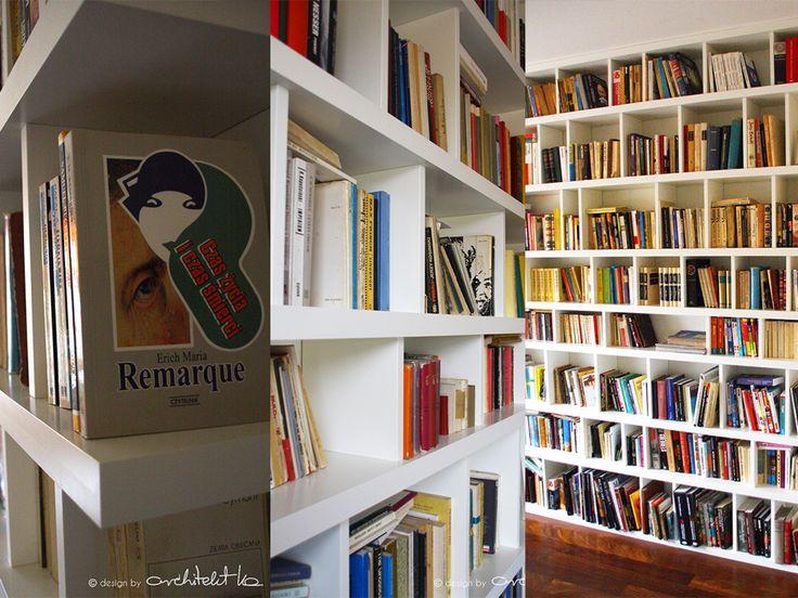 #regal na #książki na zamowienie #white painted #rack for #book