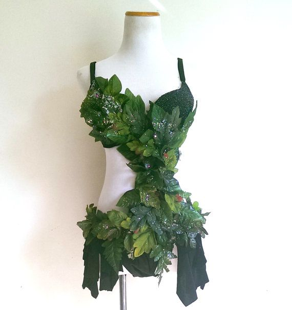 Poison Ivy Rave Bra Halloween Costume Cosplay Comic-Con EDC Outfit