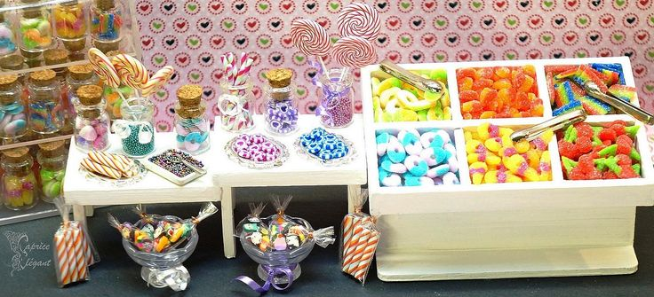 Miniatures Foods Bonbons en pâte polymère par Tania Villard Hirsig