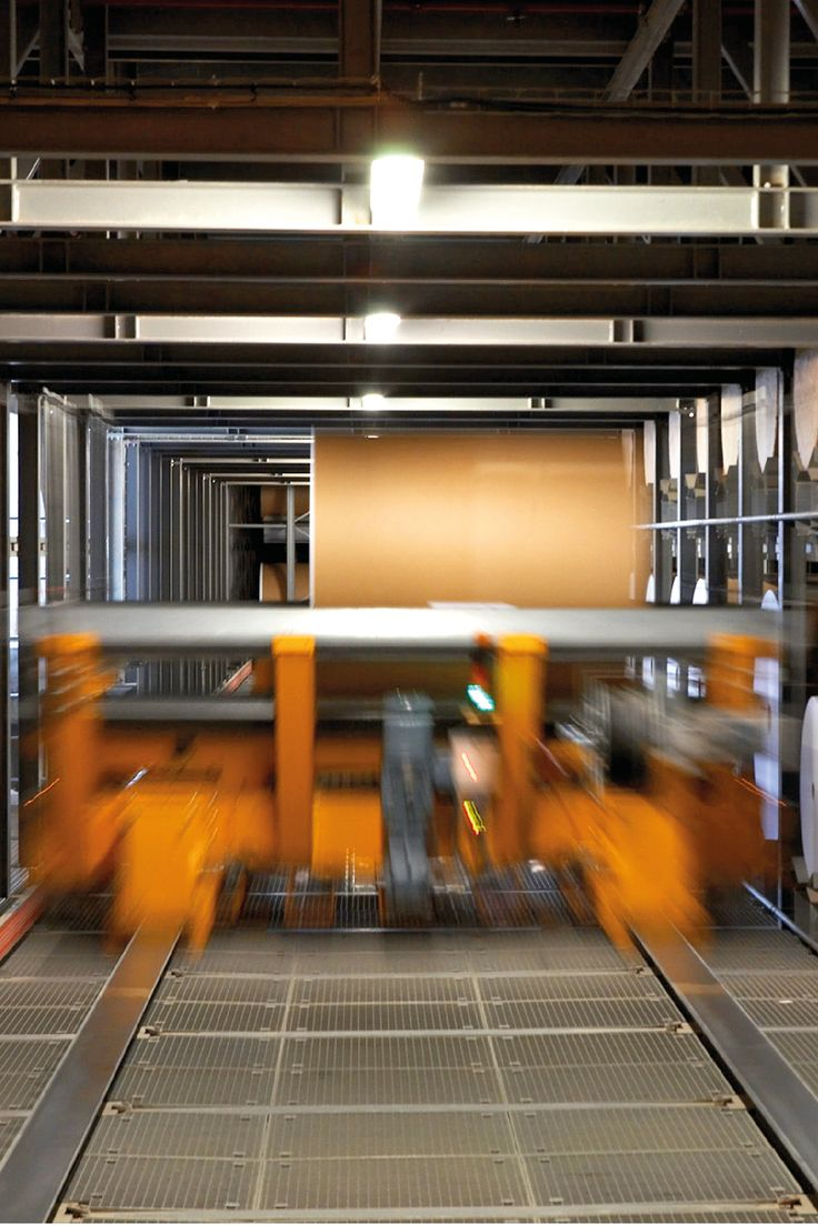 One of our factory robots distributing paper rolls. #thenavigatorcompany #paper #company