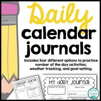 Are you looking for a fun, low-prep way to incorporate calendar into your daily routine? These calendar journal sheets are for you! In second grade, calendar time is limited but I still feel that it's important to reinforce these essential skills. This set of four different calendar sheets includes space for:-Number of the Day-Today's Date-Digital Date-Yesterday was...-Today is...-Tomorrow will be...-Today's weather-10 more -10 less-1 more-1 less-Place Value (hundreds, tens, ones)-Place…