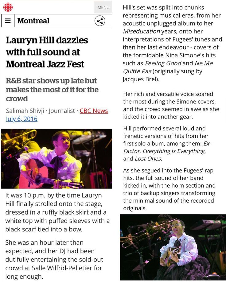 What we can maybe expect TONIGHT @hfxjazzfest #HJF30 doors at 7 @cyndicain at 8 @ms_laurynhill when energy and time align. . @hfxjazzfest is asking people to show up early. The show is sold out. . from Salimah Shivji / @cbcmontreal Updated: Jul 06 2016 chopped up a bit for space link in bio for full article . Lauryn Hill dazzles with full sound at Montreal Jazz Fest . She was an hour later than expected and her DJ had been dutifully entertaining the sold-out crowd at Salle Wilfrid-Pelletier…