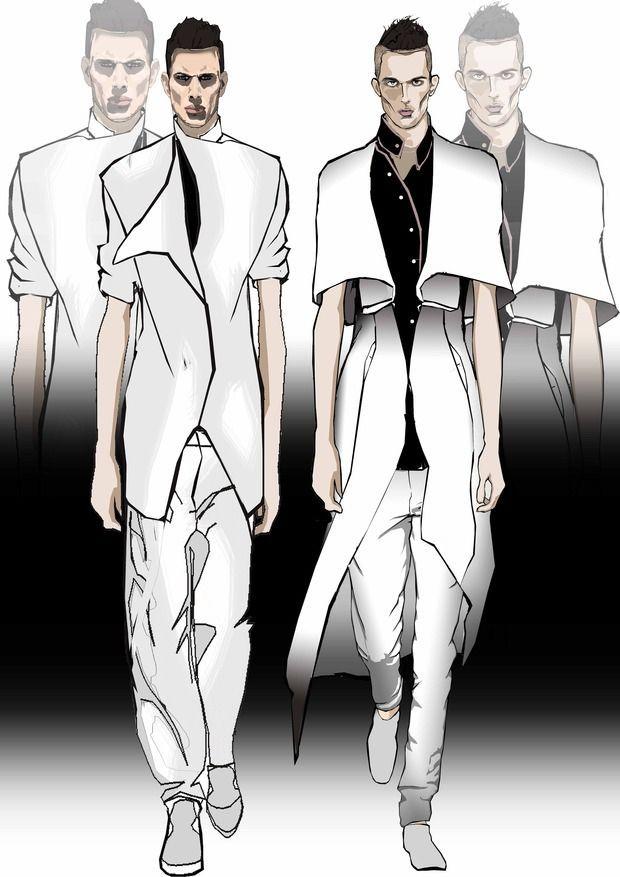25 best ideas about fashion sketch men on pinterest