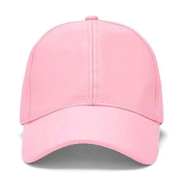 Forever21 Faux Leather Dad Cap (205 UYU) ❤ liked on Polyvore featuring accessories, hats, pink, pink cap, faux leather cap, pink cap hat, forever 21 hats and brimmed hat