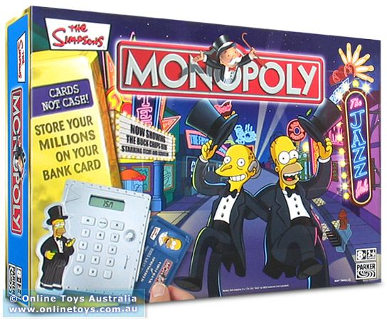Monopoly - The Simpsons with Electronic Banking - Online Toys ...