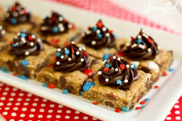 4th of july bar cookies