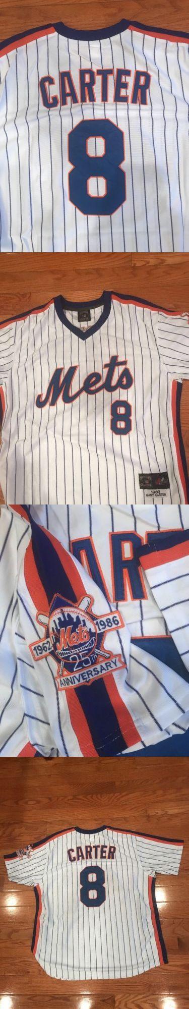 Baseball-MLB 24410: New York Mets Gary Carter Throwback Jersey #8 Men S Xl Baseball Jersey New Sewn -> BUY IT NOW ONLY: $55.95 on eBay!