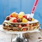 Tortillatårta med portabello och mozzarella