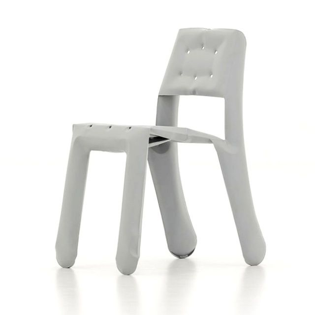 CHIPPENSTEEL 0,5 ALU Chair - Zieta  Chipensteel 0.5 Alu chair is an effect of limited Chipensteel chair development. Chipensteel 0.5 Alu chair is made of aluminium, thus its weight was reduced by 2/3, but functionality stayed unchange.