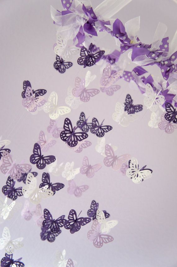 Baby Girl Nursery Decor Purple Lavender by LoveBugLullabies, $54.00