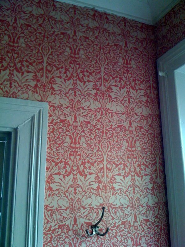 "William Morris wallpaper, ""Brer Rabbit"". Visby, isle of Gotland, Sweden."