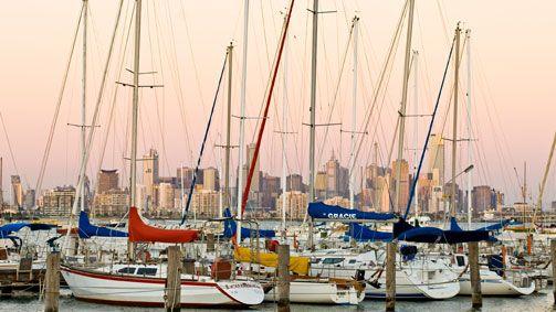 City view from Williamstown, Melbourne, Victoria, Australia