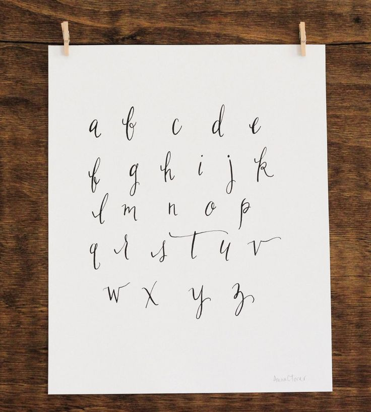 Calligraphy alphabet print Handwriting calligraphy
