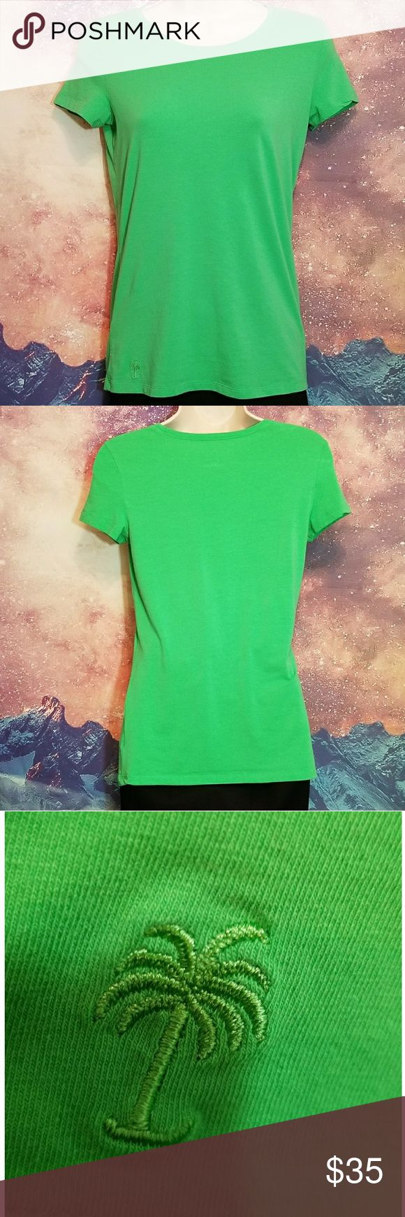 Lilly Pulitzer Green T-shirt XXS Lilly Pulitzer Green T-shirt Size XXS 93% Pima Cotton 7% Spandex Lilly Pulitzer Tops Tees - Short Sleeve