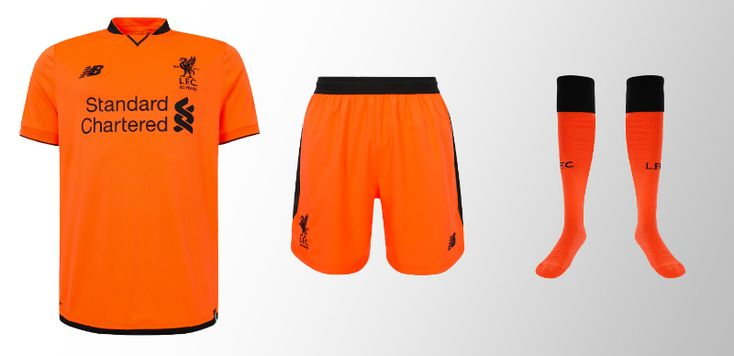 This is not the Dutch National Team. This is Liverpool, ladies and gentlemen. In ORANGE. Surprisingly, while the kit has received mixed review, the socks are quite the hit. See for yourselves here.